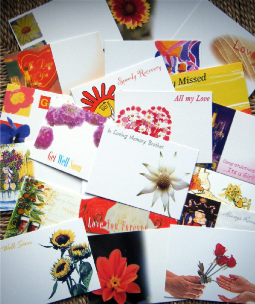 20 Assorted Florists Cards